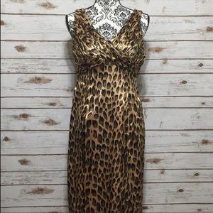 Adrianna Papell Leopard Print Dress